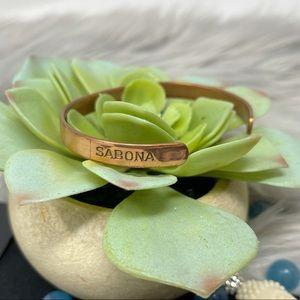 Sabona London Copper Bangle Wristband Bracelet